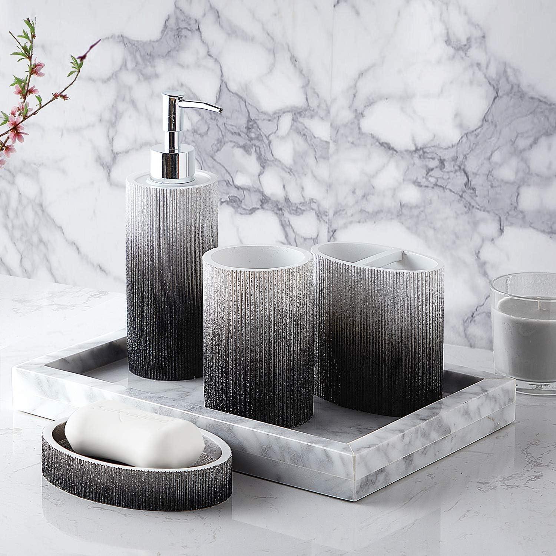 Amazon Com Sweet Home Collection Bathroom Accessories Collection Unique Decorative Beautiful Designs Bath Décor 4 Piece Set Urbana Home Kitchen