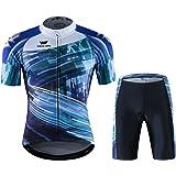 World Elite 半袖 サイクルジャージ 上下セット 自転車ウエア 半袖ウェアセット メンズ レディーズ サイクリング ツーリング時期夏用 速乾吸汗 通気がいい