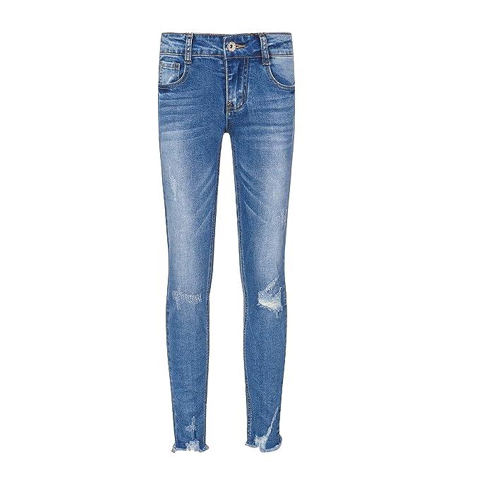 Amazon.com: YUKE - Pantalones vaqueros para niñas de 9 a 15 ...