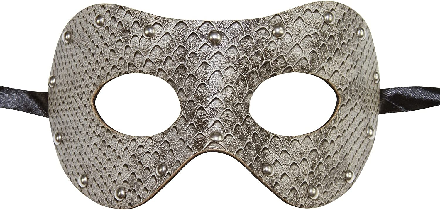 Snakeskin Venetian Masquerade Mask w// Rhinestones /& Butterfly Party Prom Costume