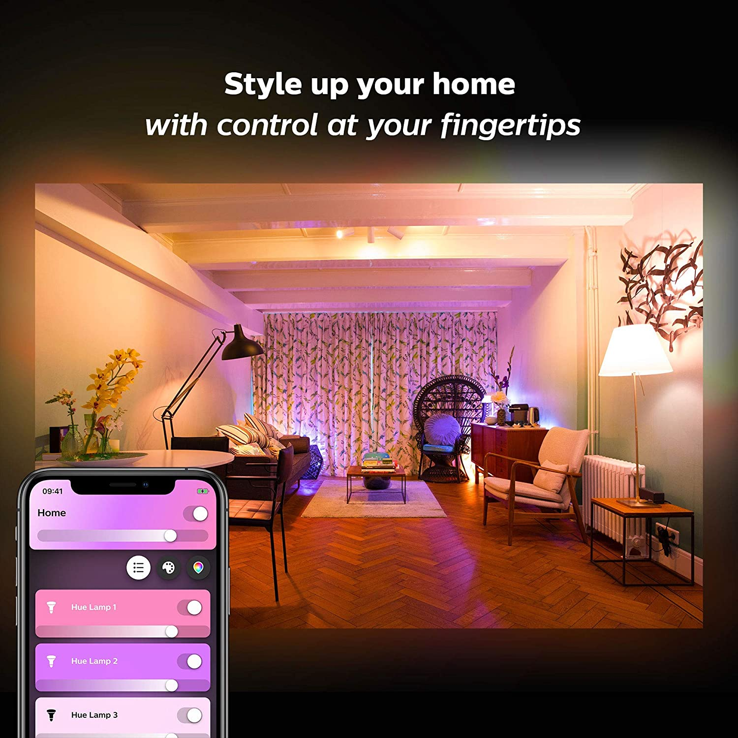 Amazon.com: Philips Hue White and Color Ambiance 2-Pack A19 ...