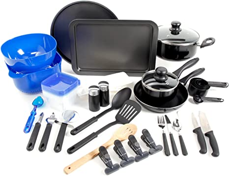 Amazon Com Gibson Home Total Kitchen 59 Piece Cookware Combo Set