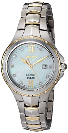 Amazon.com: Seiko Womens Japanese-Quartz Watch with Stainless-Steel Strap, Two Tone, 15.4 (Model: SUT308: Watches
