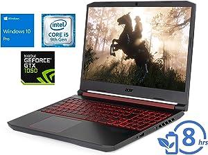 "Acer Nitro 5 Laptop, 15.6"" FHD Display, Intel Core i5-9300H Upto 4.1GHz, 8GB RAM, 256GB NVMe SSD + 1TB HDD, NVIDIA GeForce GTX 1050, HDMI, Wi-Fi, Bluetooth, Windows 10 Pro"