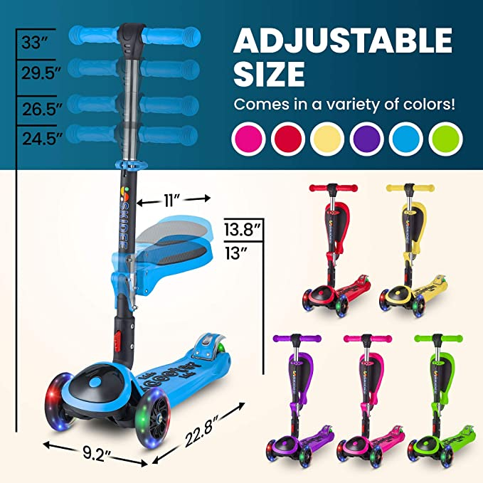 Amazon.com: Patinete para niños con asiento plegable ...