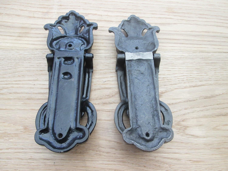 /Llamador de puerta Negro Ironmongery World/® Hierro Fundido Estilo Vintage Victoriano Ornate/