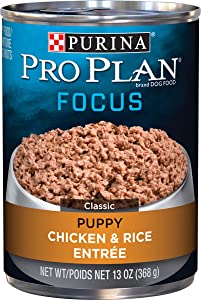 Purina Pro Plan Pate Wet Puppy Food, FOCUS Chicken & Rice Entree - (12) 13 oz. Cans