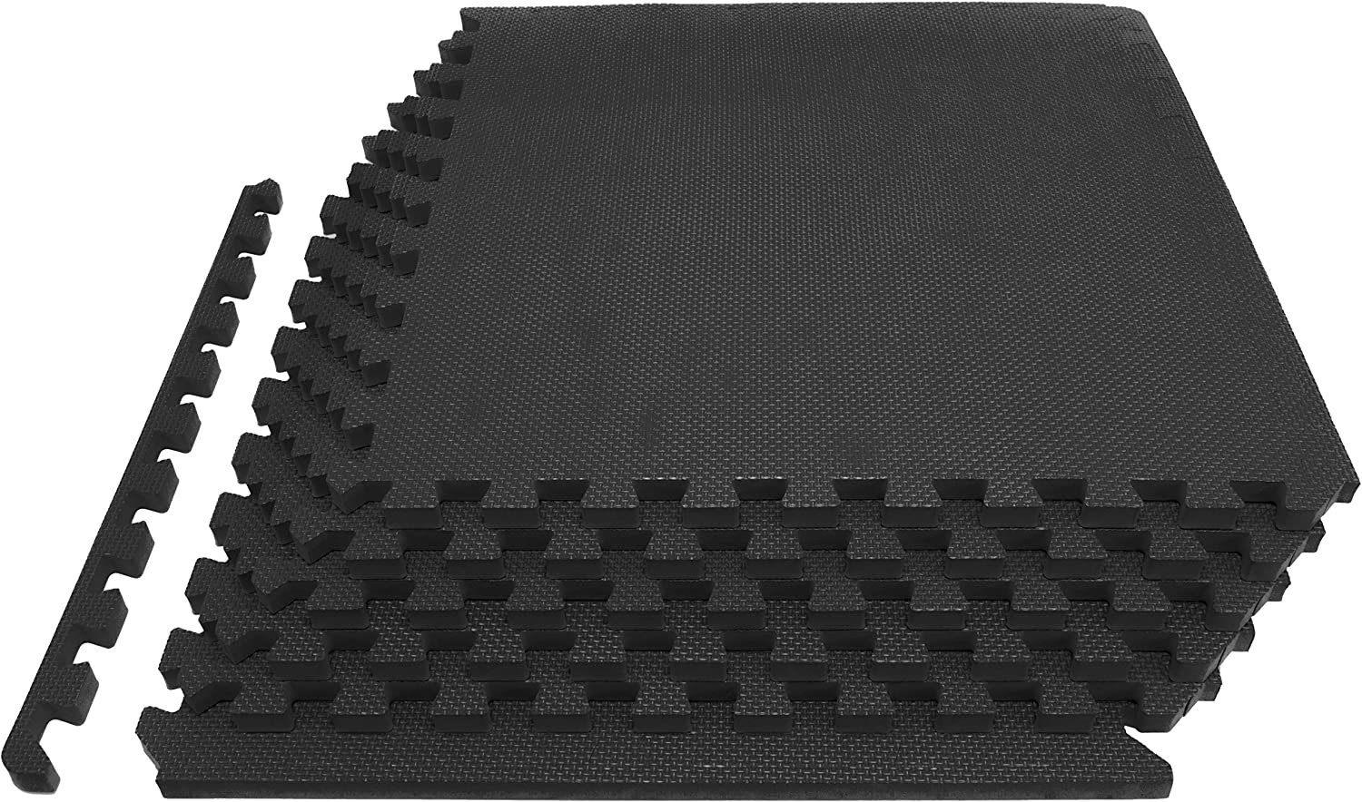ProsourceFit Extra Thick Puzzle Exercise Mat ¾, EVA Foam Interlocking Tiles for Protective, Cushioned Workout Flooring for Home and Gym Equipment, Black : Sports & Outdoors