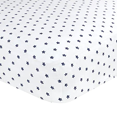 Amazon.com : Just Born 100% Cotton Fitted Crib Sheets, Transit Navy : Baby