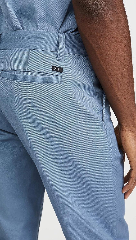 Obey Mens Slim Fit Casual Pant