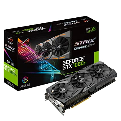 ASUS ROG-STRIX-GTX1080TI-11G-GAMING - Tarjeta gráfica (11 GB de GDDR5, 1480 MHz, PCI Express 3.0 chipset, NVIDIA GeForce, para Gaming en 4K) Color ...