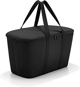 reisenthel Coolerbag, Collapsible 20-Liter Insulated Tote with Zipper Closure, Black