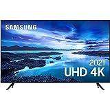 "Samsung Smart TV 50"" UHD 4K 50AU7700, Processador Crystal 4K, Tela sem limites, Visual Livre de Cabos, Alexa built in, Contro"