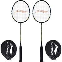 Li-Ning XP-70-IV Aluminum Badminton Racquet, Set of 2 (Black/Gold)