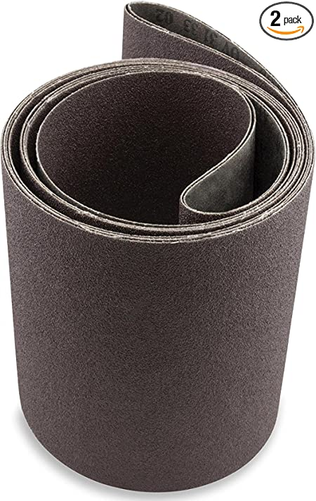 6 X 80 Inch 80 Grit Aluminum Oxide Premium Quality Metal Sanding Belts 2 Pack