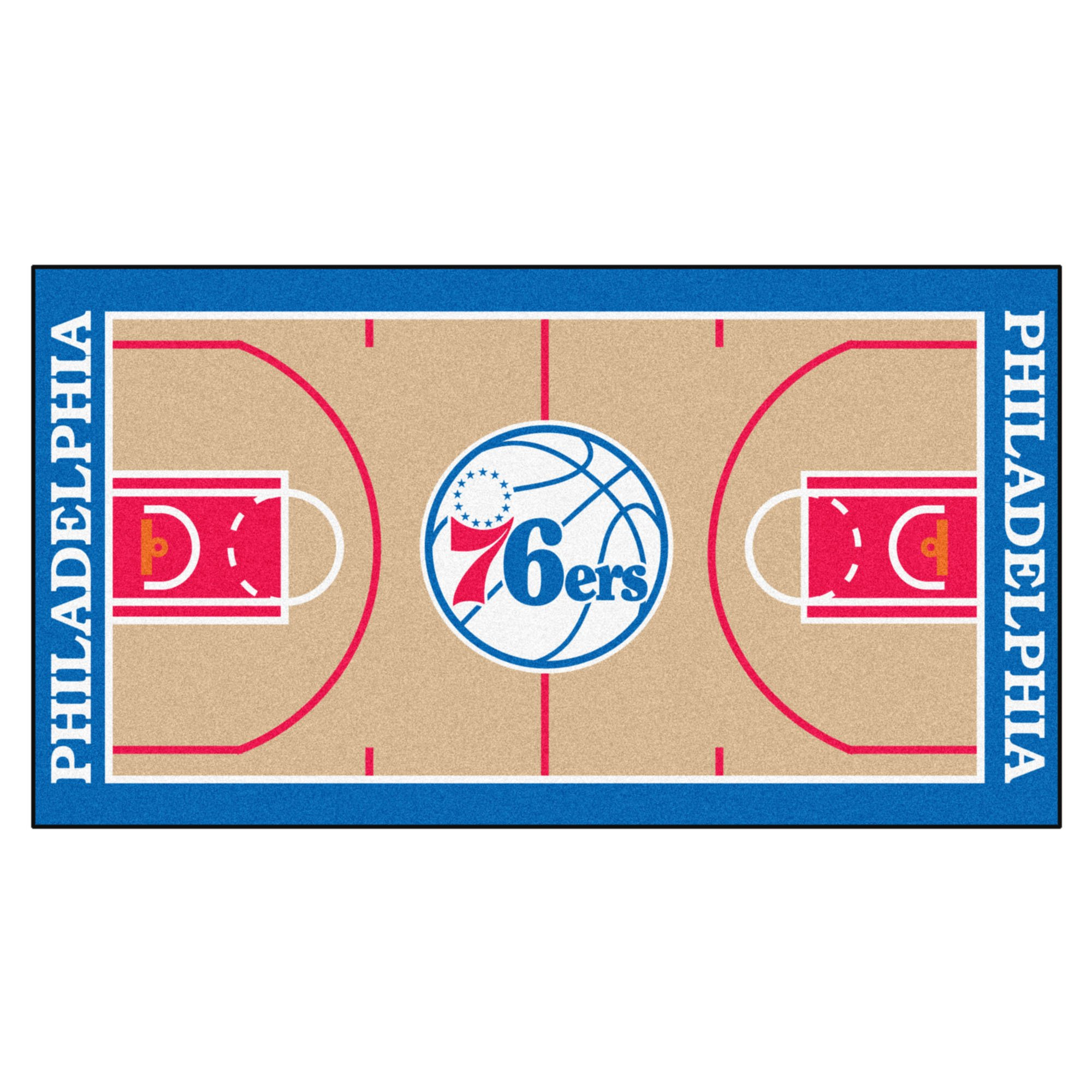 FANMATS NBA Philadelphia 76ers Nylon Face NBA Court Runner-Small by Fanmats