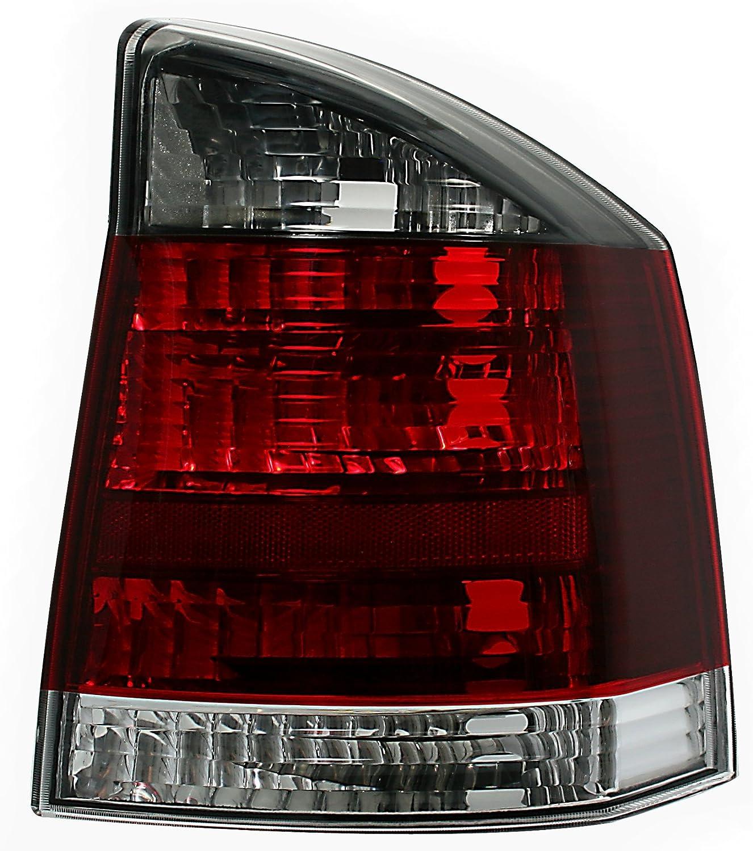 Rot-Schwarz//Rechte Seite AD Tuning GmbH /& Co KG 960659 R/ückleuchte Beifahrerseite