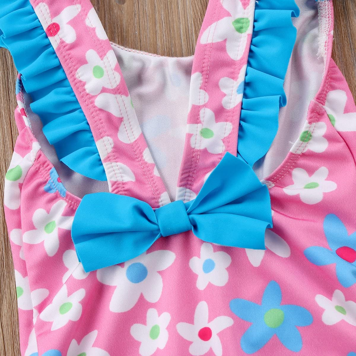 Toddler Baby Girls Floral Cross Back Swimsuit Beachwear One Piece