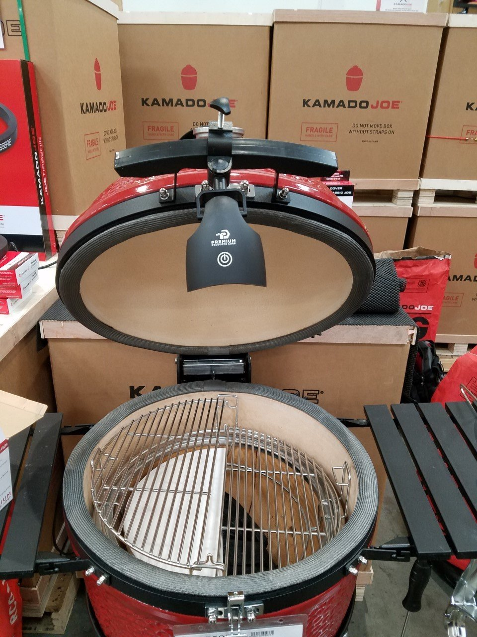 Kamado Joe Barbecue Grill Light (NOW WATERPROOF !) Solid Metal C-Clasp For Big Green Egg & Kamado Joe Grills & Smokers -Bright LED - For Grilling & Activities -NEW DESIGN 2 Year Warranty