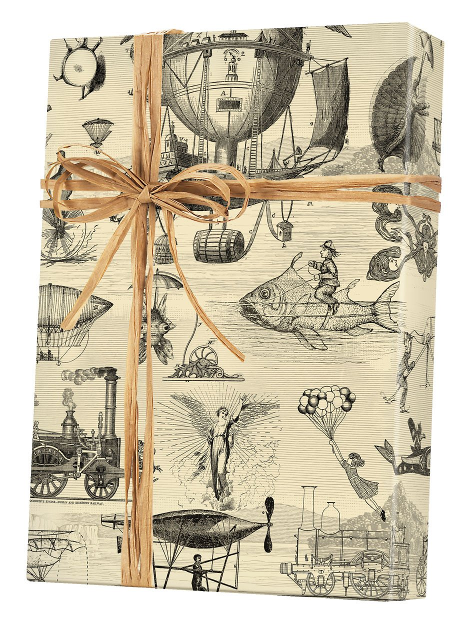 Extraordinary Voyages Rolled Gift Wrapping Paper - 24'' x 15'
