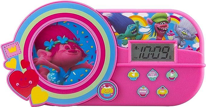 Amazon.com: DreamWorks Trolls reloj despertador con mú ...