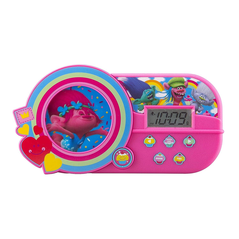 KIDdesigns DreamWorks Trolls Alarm Clock with Music and Night Light Kid Designs TR-346.FM