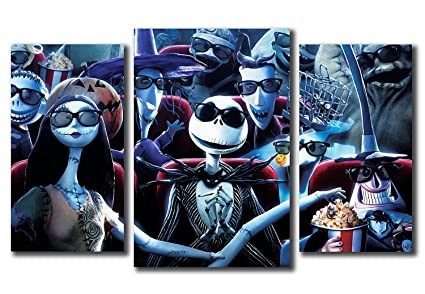 nightmare before christmas characters design modular pictures painting wall art decor home decoration canvas printed - Nightmare Before Christmas Characters