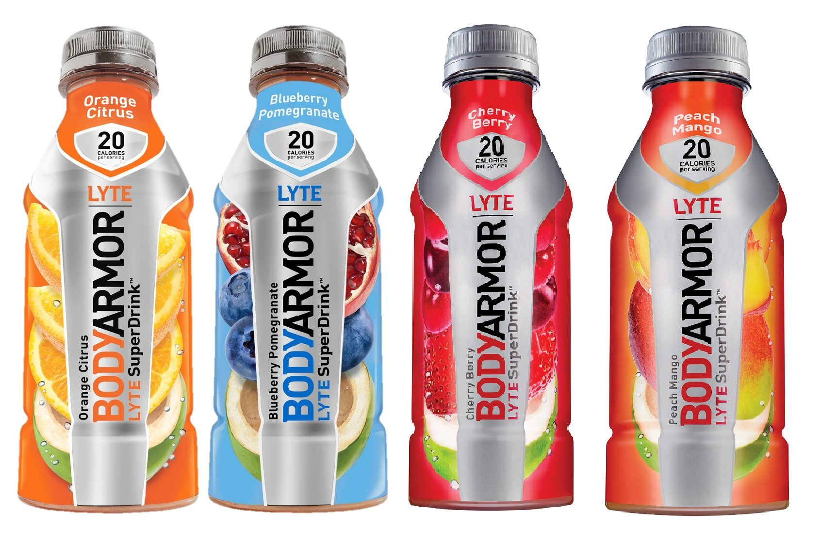Bodyarmor LYTE Superdrinks Variety Pack, 4 Flavors, 16 Ounce (24 Bottles)