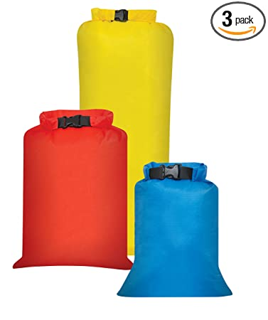 Outdoor Products 3 Pack All Purpose Dry Sack, One Size, Assorted by Outdoor Products