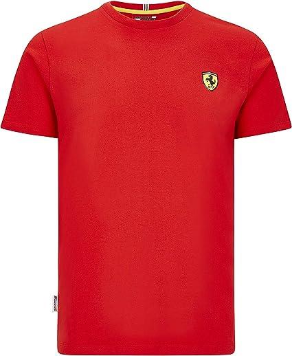 Ferrari Scuderia F1 - Camiseta de manga corta para hombre, color negro y rojo: Amazon.es: Ropa y accesorios