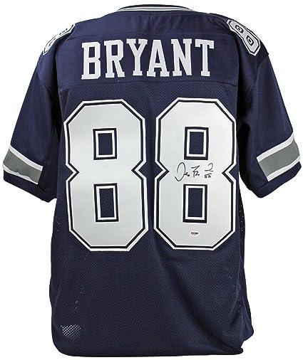 Cowboys Dez Bryant Authentic Signed Blue Jersey Autographed