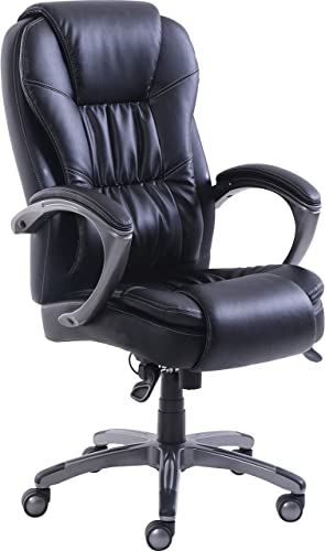 Lorell Active Massage Leather High-Back Chair