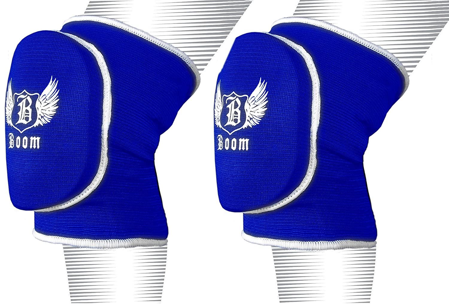 BOOM Prime MMA Volleyball Wrestling Knee Pads Kick Boxing Protector Martial Arts Support Guard Workwear Muay Thai Training BOOM Pro