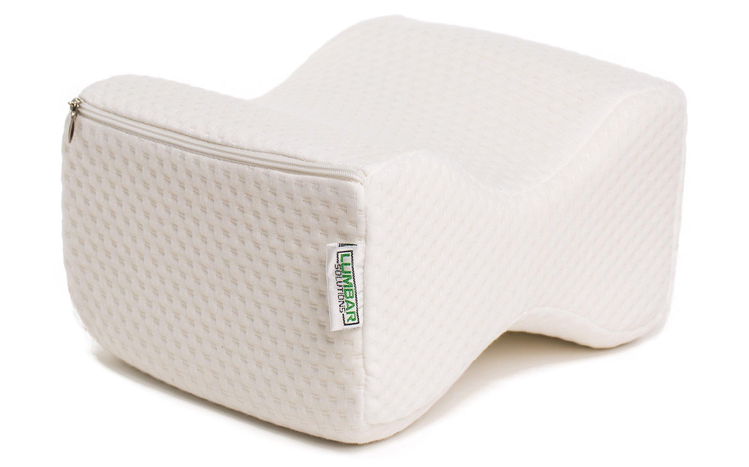 Lumbar Solutions Memory Foam Knee Pillow - Bonus: Includes free extra cover!!!