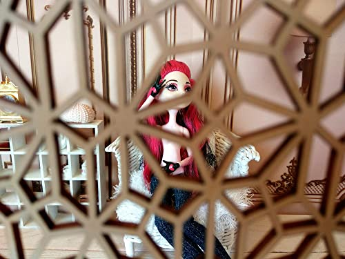 wallpaper dollhouse wall stand decor miniature room divider Dressing screen carving doll room box partition