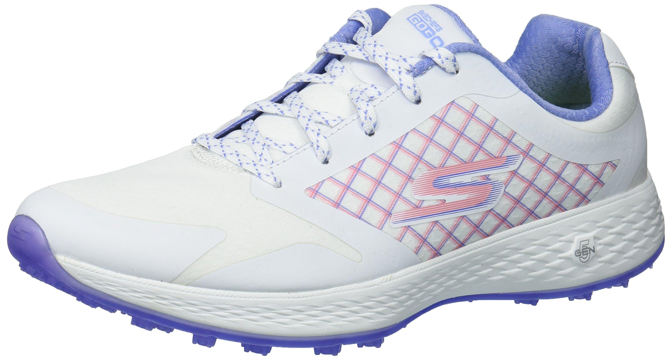 Skechers Performance Women's Go Eagle Rival Golf-Shoes,White/Lavender,8 M US