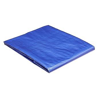 AmazonCommercial - Lona impermeable de poliéster multiusos, 1,8x2,5m, 0,127mm de espesor, azul, pack de 3unidades
