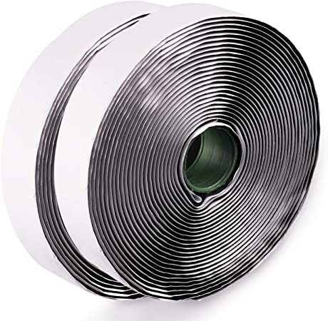 LLPT Hook and Loop Tape Color Black 1 Inch x 23 Feet Each Roll Heavy Duty Adhesive Hook Loop Strip Mounting Tape for Indoor and Outdoor (HTB130)