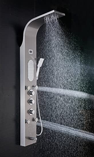 multiple shower heads. ello\u0026allo stainless steel rainfall thermostatic shower panel tower multiple head rain massage system with jets heads
