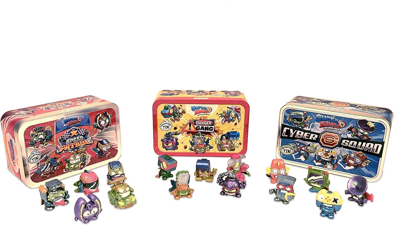 SuperZings Rivals of Kaboom - Pack de 3 Latas (PSZSV123IN00) con 5 Figuras Cada Una, Colección completa: Amazon.es: Juguetes y juegos