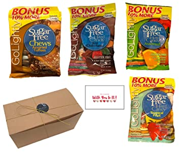 Amazon sugar free candy for diabetics 4 pack gift set sugar free candy for diabetics 4 pack gift set golightly chocolate toffee tropical negle Images