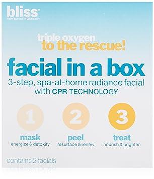 BLISS TRIPLE OXYGEN FACIAL IN A BOX w CPR TECHNOLOGY African Queen Beauty Cream MJ 8 Oz. / 226.4 g