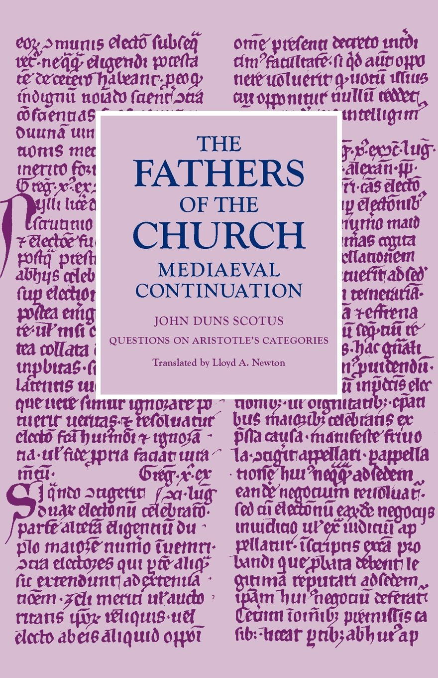 Questions on Aristotle's Categories (Fathers of the Church Medieval Continuations) pdf