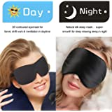 Whalek Natural Silk Sleep Mask and Memory Foam Blindfold(pack of 2),Deep Molded Sleep Eye Mask, with Ear Plugs and Carry Pouch