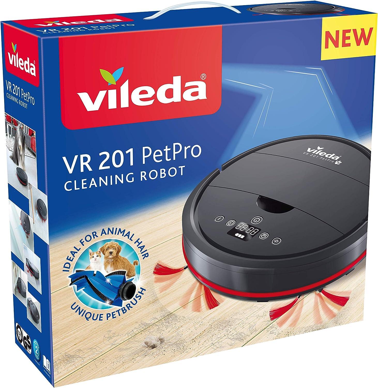 Vileda VR 201 PetPro - Robot aspirador, depósito de suciedad XL ...