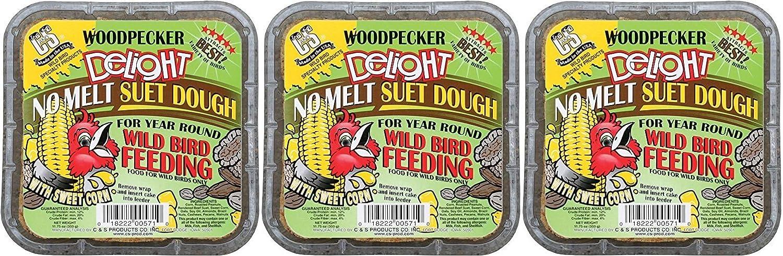 (3 Pack) C&S Woodpecker Delight No-Melt Suet Dough C & S Products Co Inc
