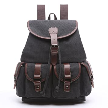 f0f3a28da98d Image Unavailable. Image not available for. Color  Women Canvas Backpack  Purse Vintage Travel Rucksack for Teenager Girls ...