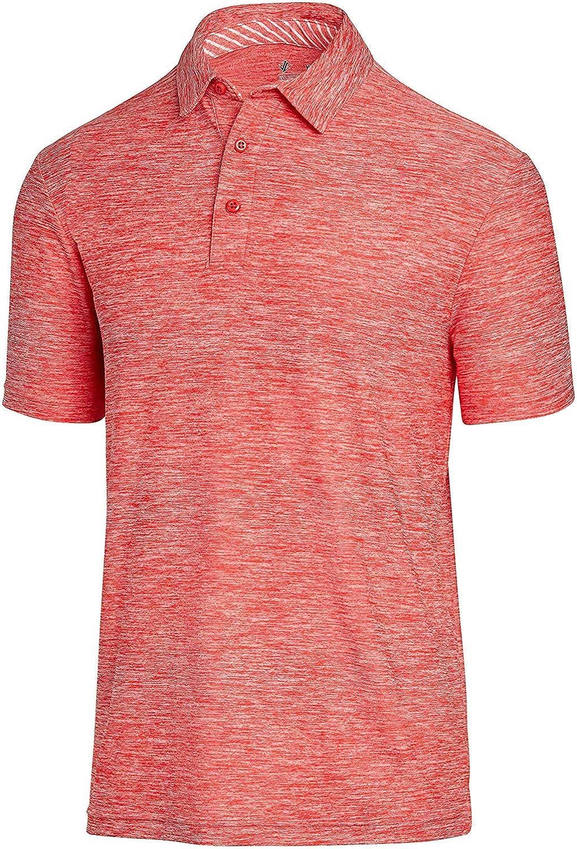 Jolt Gear - Camisa de golf para hombre, polo de manga corta, diseño informal, color rojo, XXL, Rojo (Salmon Red): Amazon.es: Deportes y aire libre