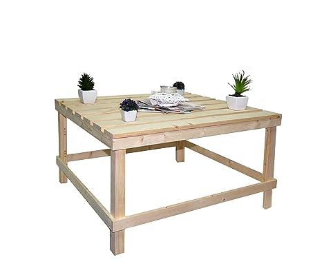Rebecca SRL Tavolo Tavolini da Salotto Pallet Legno Pino Naturale ...