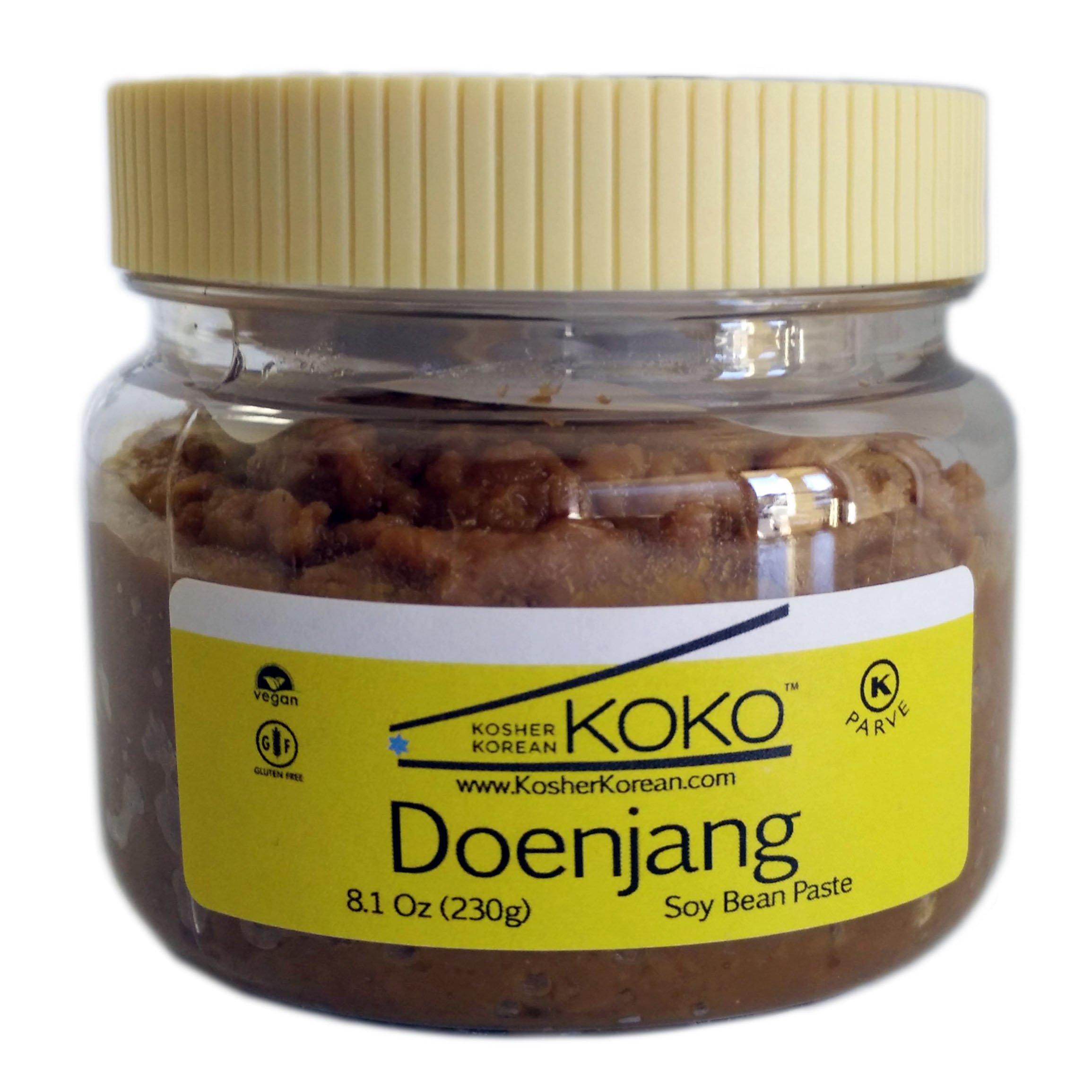 Koko Doenjang Korean Miso (Fermented Soybean Paste) 8.1oz(230g) - Certified Kosher Doenjang - Premium Gluten Free 100% Korean - All Natural
